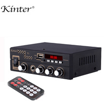 цена на kinter T1 for bluetooth 2.0CH Home Amplifier audio with microphone /USB/TF/FM/AUX play stereo sound control bass treble volume