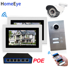 720P WiFi IP Video Door Phone Video Intercom 2-Apartments Door Access Control System iOS/Android APP Remote Unlock POE/IP Camera 720p wifi ip video door phone video intercom android ios app remote unlock home access control system 1 6 poe switch wholesale