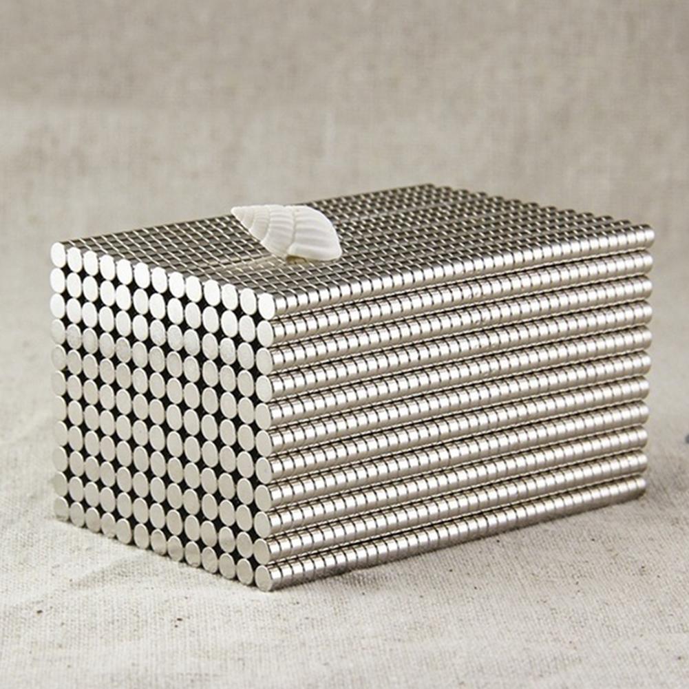 50 шт., размер: 4x2 мм круглый Форма редкоземельные Неодимовые Супер магнитный съемник для жестких бирок для электронного отслеживания товара ...