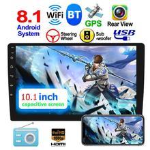 10101 10,1 дюймов сенсорный экран Экран Android 8,1 автомобильный стерео GPS Navi FM радио MP5 плеер Поддержка рулевого колеса Управление видео Выход