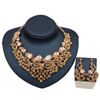 Luxury Crystal Rhinestone Multicolor Jewelry Set  2