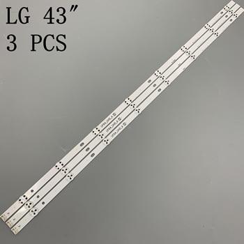 3 Pcs X 43 Inch Led Backlight Voor Lg 43uh619v 43UH610V 43UH6030 UF64 UHD_A 43LH5700 43LH60FHD HC430DGG-SLNX1 43UF6400 43LG61CH
