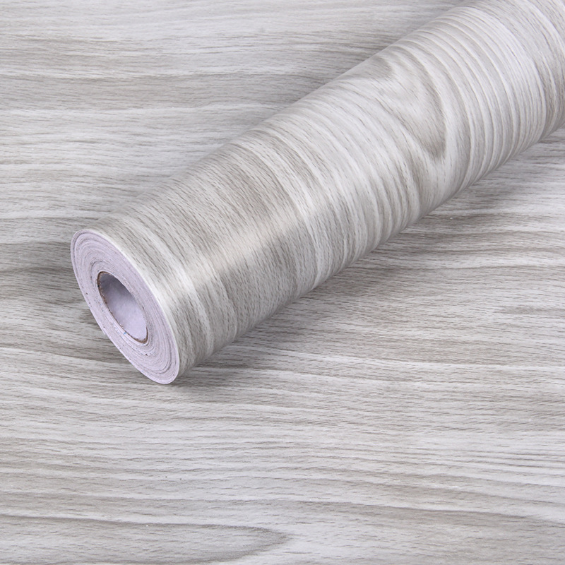 Wood Grain Removable Wallpaper PVC Self-Adhesive Wall Sticker Refurbishment Contact Paper for Door Cabinet Desktop Living Room(China)