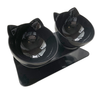 Non-slip Pet Cat Double Water Bowls With Raised Stand Pet Food And Water Bowls For Cats Dogs Feeders Pet Drinking Bowl 15