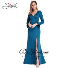 Новое Элегантное женское вечернее платье с v образным вырезом