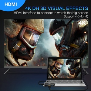Image 4 - FSU USB HUB 4K 60HZ USB C  to HDMI Adapter 100W PD Charging 3USB 3.0 Connector for MacBook Huawei Mate 20 P20