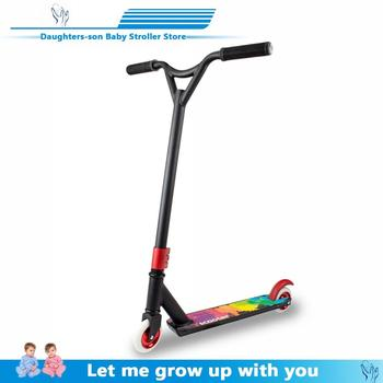 Pro Stunt Scooter Freestyle Street Surfing Kick Scooter Trick Skatepark BMX Handlebars Professional Extreme Sports Scooter outdoor ride push exercise scooter children adult kickboard 2 wheels safety scooter fixed bar 360 degree street kid kick scooter