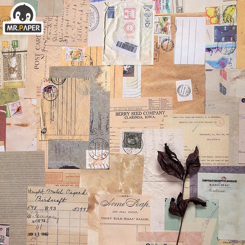 Mr.paper 60pcs/lot Antique Collage Light Paper Kraft Card Journaling Bullet Scrapbooking Material Paper Fresh Words LOMO Cards 4