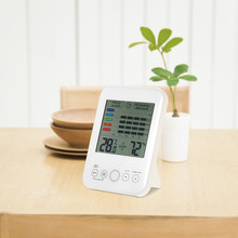 Mold Alarm Digital Hygrometer Thermometer Hygrometer With Mold Alarm And LCD Display Humidity Meter high accuracy handheld industrial thermometer hygrometer meter tm730 digital wet bulb and dew point humidity tester instrument