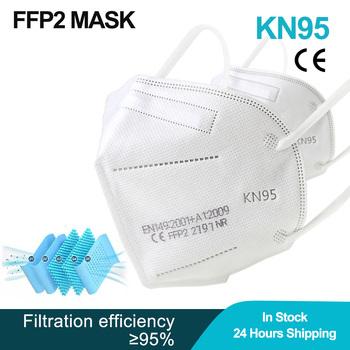 60 sztuk maska FFP2 maseczki do twarzy KN95 maska z filtrem maske protect maska pył FFP2mask usta maska mascarillas masque tapabocas tanie i dobre opinie NoEnName_Null Z Chin Kontynentalnych osobiste jednorazowe Dla osób dorosłych GB2626-2006 Maski