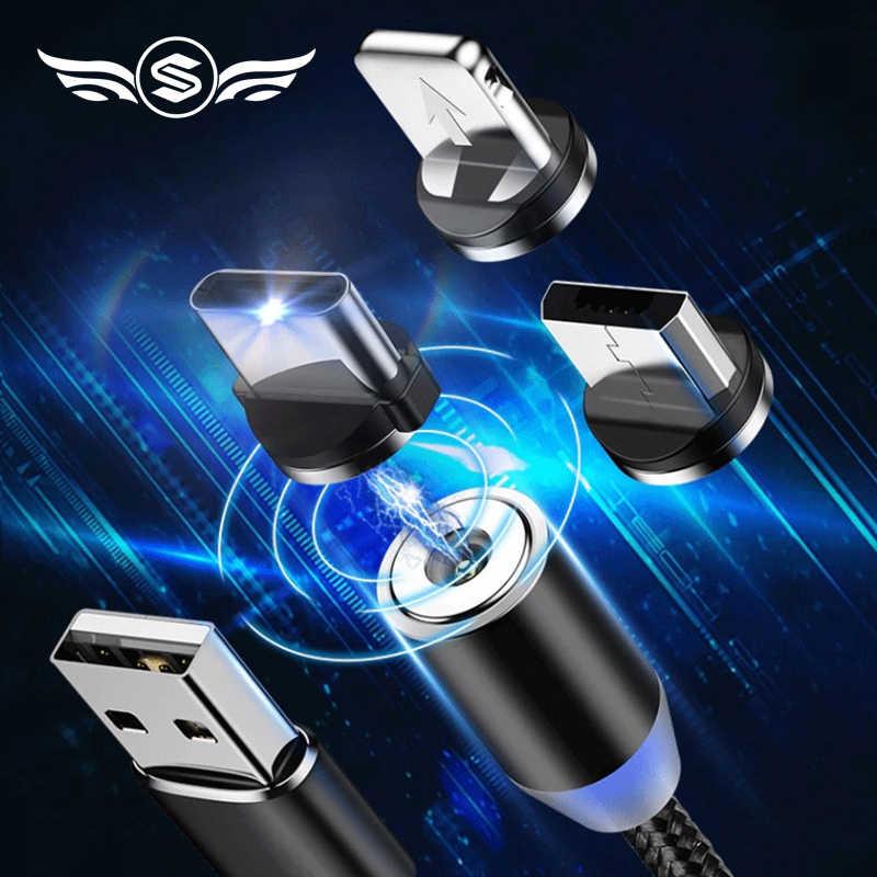 磁気ケーブルマイクロ Usb タイプ C iphone 照明ケーブル 1M 3A 高速充電ワイヤータイプ C マグネット充電器電話ケーブル Xiaomi