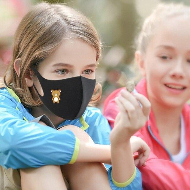 Black Dust Mask for Children to Prevent Flu Vira Influenza Three Layers Child Anti Haze Dust Muffle Respirator 1