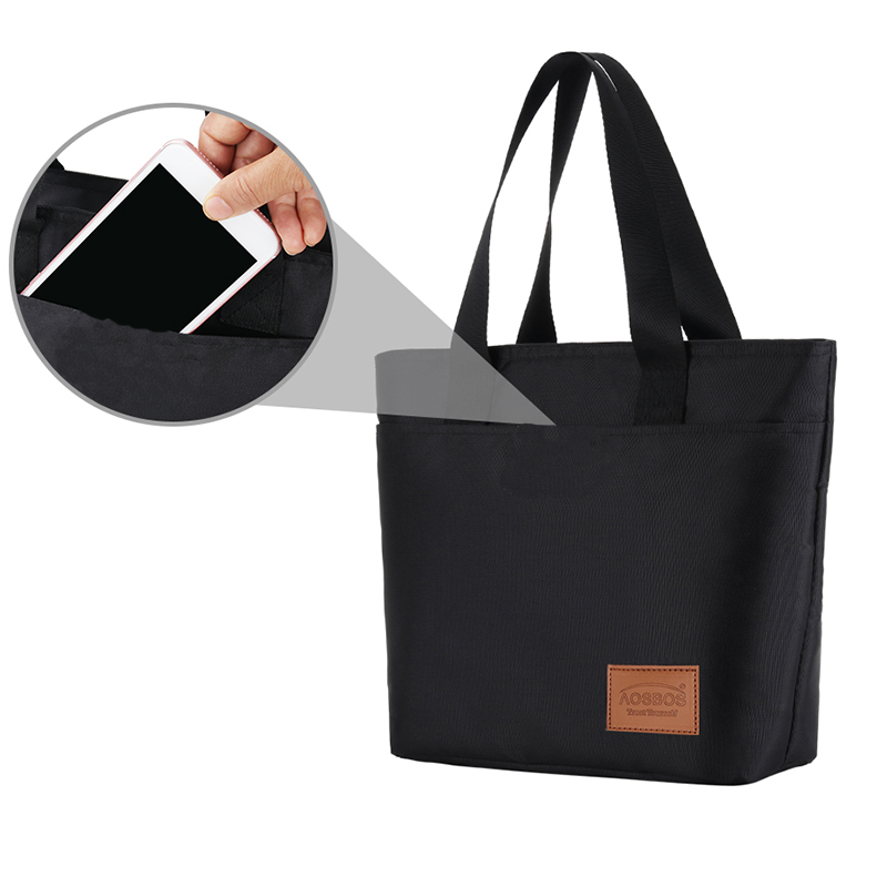 Aosbos New Sandwich Lunch Bags For Women Kids Girl Thermal Tote Bags Insulated Large Breakfast Food Bag Cooler Picnic Box