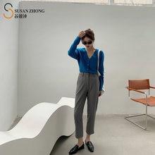 Женские брюки женские простые элегантные дизайнерские прямые