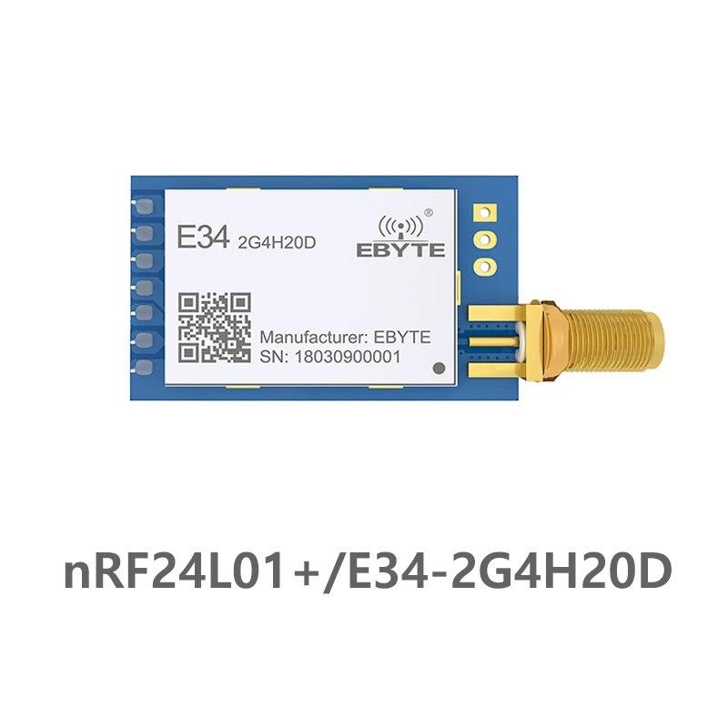 E34-2G4H20D salto de frecuencia UART nRF24L01P 2,4 Ghz 100 mW, antena SMA mucho uhf transceptor inalámbrico de nRF24L01 + PA 2,4g Módulo de radiofrecuencia Antena Wifi Superbat Yagi 2,4 GHz 16dBi Booster Wireless-G para 802.11b/g/n WLAN RP-SMA Cable de enchufe macho 5m extensión de largo alcance