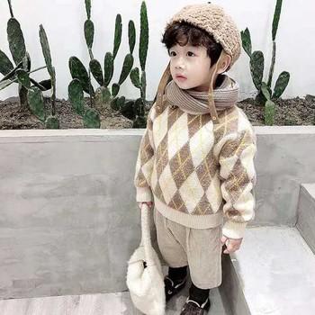 Dzieci dziecko swetry dla chłopców i dziewcząt chłopców swetry zimowe jesienne dziewczyny swetry dzianiny dzieci ciepłe swetry Casual chłopców odzież tanie i dobre opinie YSUBEST Wiskoza COTTON Mikrofibra Na co dzień GEOMETRIC REGULAR O-neck Unisex 1589 Pełna Na krzyż Pasuje prawda na wymiar weź swój normalny rozmiar