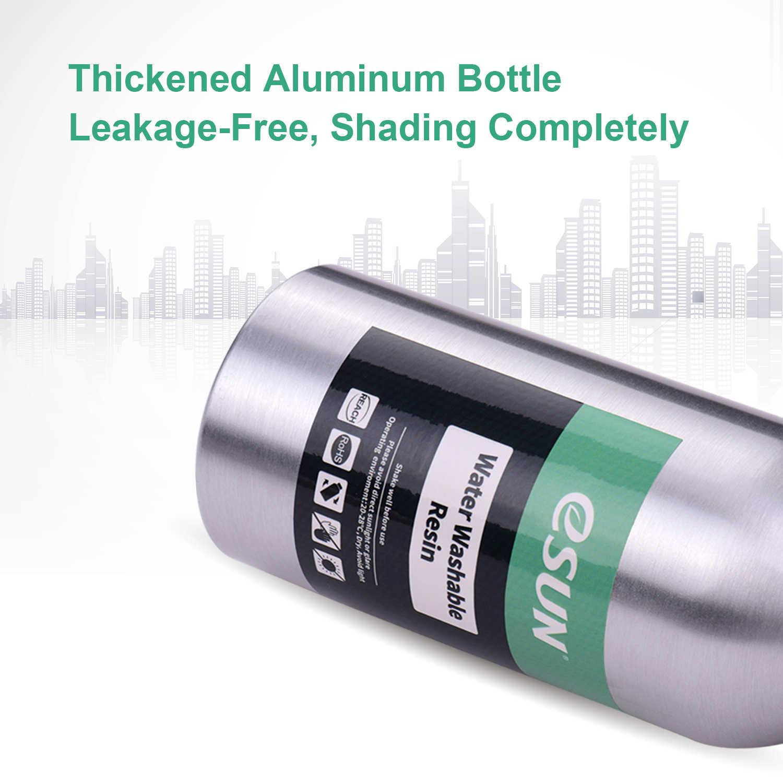 Esun 76d resina uv para impressora lcd 3d água lavável resina garrafa de alumínio material de impressão líquida para anycúbico nova sparkmaker