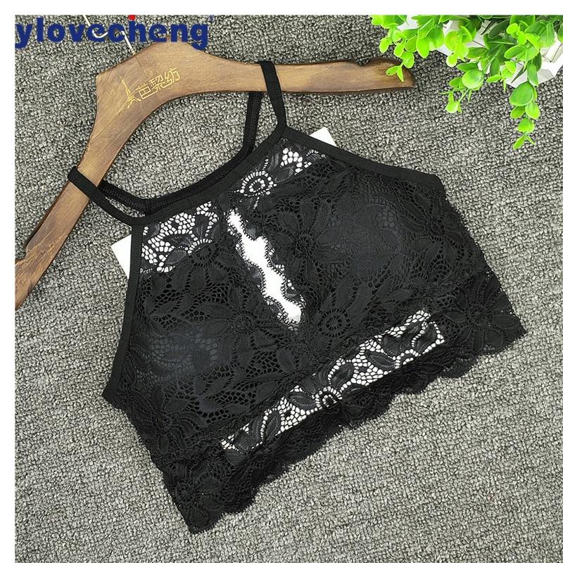 Chegada nova moda 3/4 xícara sexy mulheres underwear Bralette de renda confortável sutiã sem fio pescoço para uso sem costas sutiã