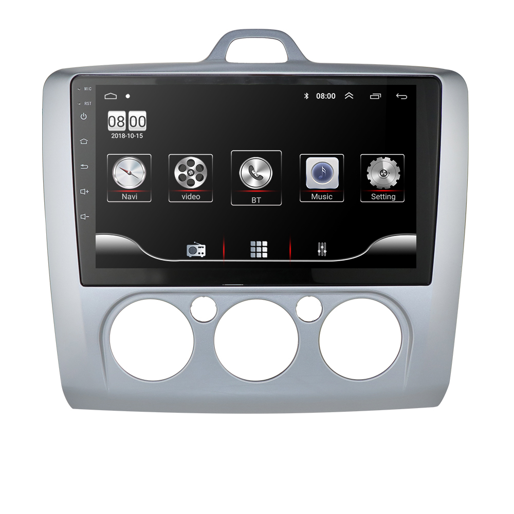 Ossuret 1G+16G Android 9.0 Car Radio Multimedia Video Player Navigation <font><b>GPS</b></font> <font><b>For</b></font> <font><b>ford</b></font> <font><b>focus</b></font> 2 3 Mk2/Mk3 hatchback 2 din DVD image