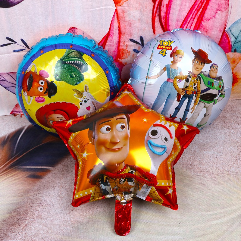 1pc 18inch Toy Foil Balloons Cartoon Story Hero Woody Captain Buzz Balls Kids Birthday Party Decor Inflatable Helium Globos