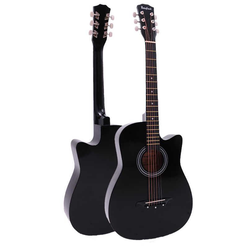 38/41 Inci Gitar Folk Gitar Akustik 6 String Basewood Gitar dengan Tas Ransel Memilih Capo Tali Pemula Guitarra AGT16