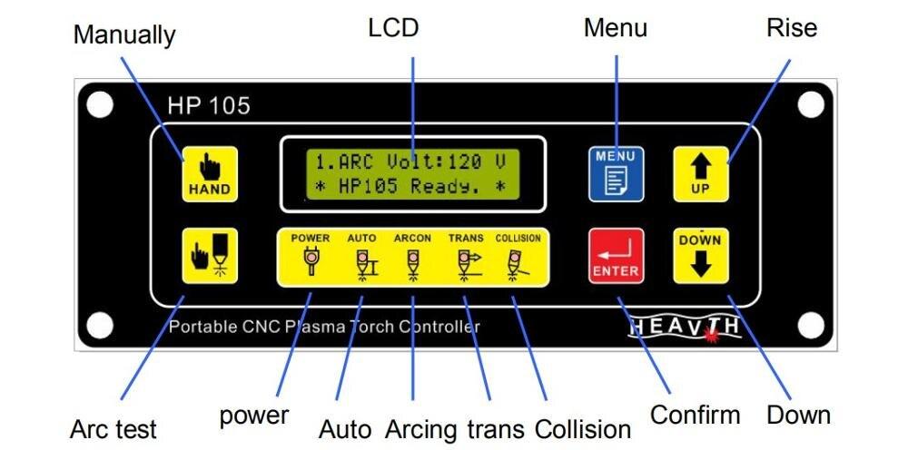 HP105 Plasma Arc Voltage Height Adjuster, Portable Desktop CNC Cutting Machine Height Adjuster
