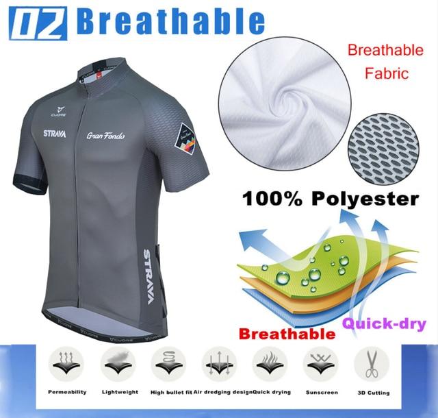 Strava conjunto de roupa de ciclismo masculina, camisa respirável e de jersey esportiva para o verão, camisa em jérsei nw, 2020 3