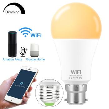 Wifi LED Smart Light Bulb E27/B22 Remote Control Lampadina Led Desk Lamp Work with Amazon Alexa Echo Google Home Assistant фото