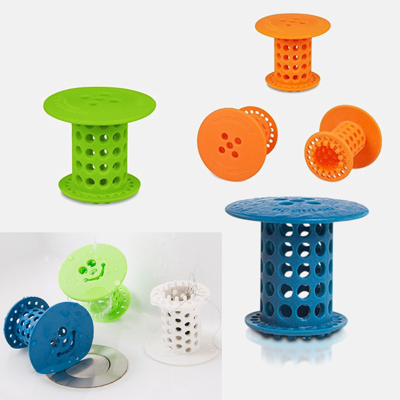 Bathroom Drain Hair Catcher Bath Stopper Plug Sink Strainer Filter Sewer Dredge Device Shower Hair Stopper Bathroom Accessories
