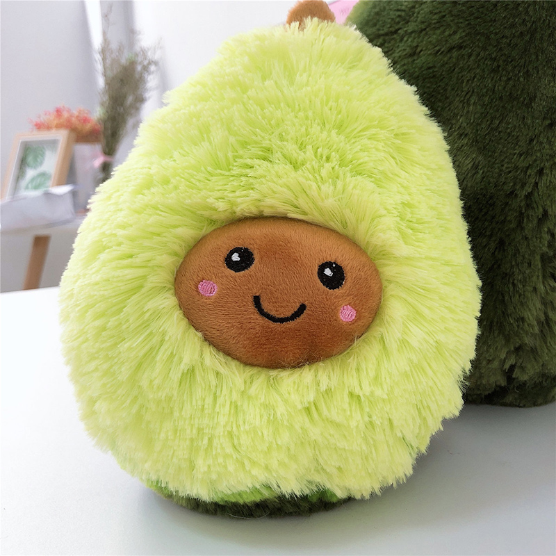 20-60cm Stuffed Fluffy Medium Hair Avocado Toys Soft Plush Avocado Cushion Cute Dolls For Kids Gifts Home Pillows