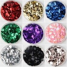Mezcla de taza de Color de 4mm 5mm 6mm Lentejuelas redondas sueltas Para manualidades Coser accesorio Para decoración DIY Lentejuelas párr Coser 20g