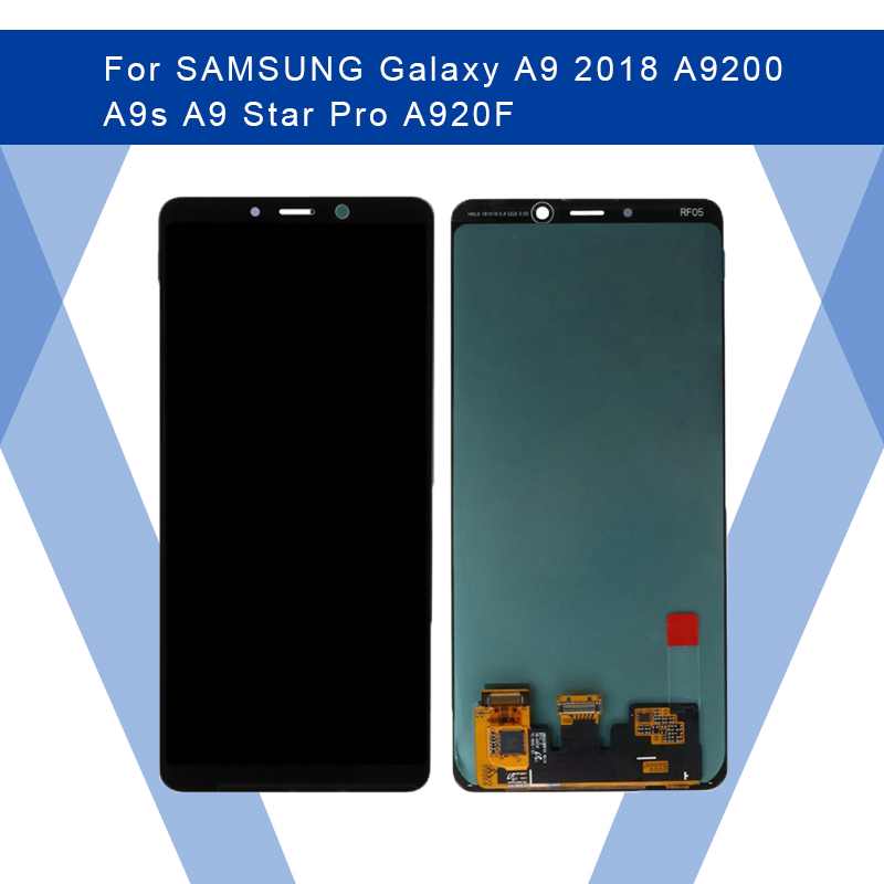 For <font><b>SAMSUNG</b></font> <font><b>Galaxy</b></font> <font><b>A9</b></font> 2018 A9s <font><b>A9</b></font> Star Pro <font><b>LCD</b></font> AMOLED Display <font><b>Screen</b></font>+Touch Panel Digitizer Assembly For <font><b>SAMSUNG</b></font> Display Original image
