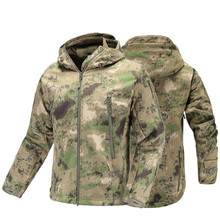 Military Tactical Jacket coat mens autumn Army Camouflage Waterproof jacket SoftShell man Windbreaker  Hooded Camo Hunt Clothes