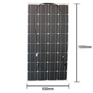 Image 4 - RG 2PCS 4PCS 6PCS 100w Flexible Solar Panels 100W 12V Monokristalline biegsamen solar ladegerät für home