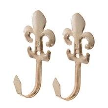 2 unids/set gancho de pared de hierro Vintage llave rústica bolsa gancho sombrero colgador rústico ganchos de Bata para colgadores de gancho de tela de baño hogar