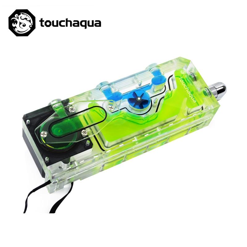 Image 3 - Bitspower touchaqua tanque de água pwm xyz reservatório combo 17 w bomba digital rgb luz sincronização 220x52x52mm BPTA XYZ RES PWMnull   -