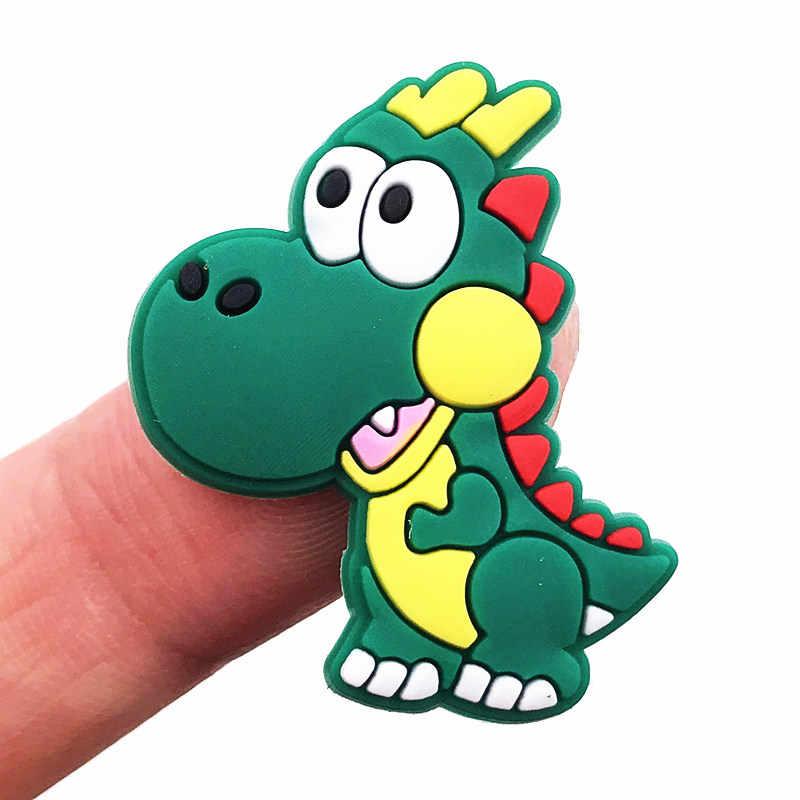 1 adet karikatür hayvan Flatback kurbağa yunus PVC silikon sırt çantası yapma kalem kapağı telefon kılıfı süsleme rozetleri buzdolabı mıknatısı
