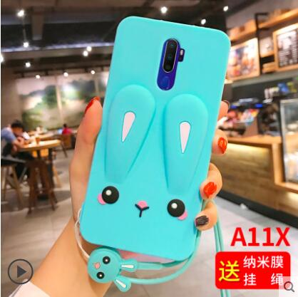 For <font><b>oppo</b></font> <font><b>a9</b></font> <font><b>2020</b></font> <font><b>Case</b></font> silicone 3D Cartoon cute silicone soft tpu With lanyard phone <font><b>case</b></font> for <font><b>oppo</b></font> <font><b>a5</b></font> <font><b>2020</b></font> <font><b>case</b></font> fundas image