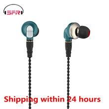 Novo senfer dt6 pro 2ba + 1dd piezo híbrido no ouvido fone de ouvido alta fidelidade correndo esportes earplug cabo destacável pt25 dt8 t2 zst v80
