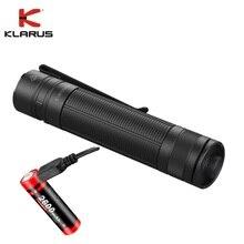 Mini Klarus E1 LED Flashlight CREE XP-L HI V4 1000LM Deep Carry Pocket Flash light with Recharge 18650 Battery for Daily Use 2016 fenix new pd32 cree xp l hi white led 900 lumen 14400 candela led flashlight 1 x 18650 2 cr123a