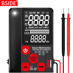 BSIDE Digital Multimeter Hz-Tester Lcd-Display NCV Capacitance Ultra-Portable DC Ohm