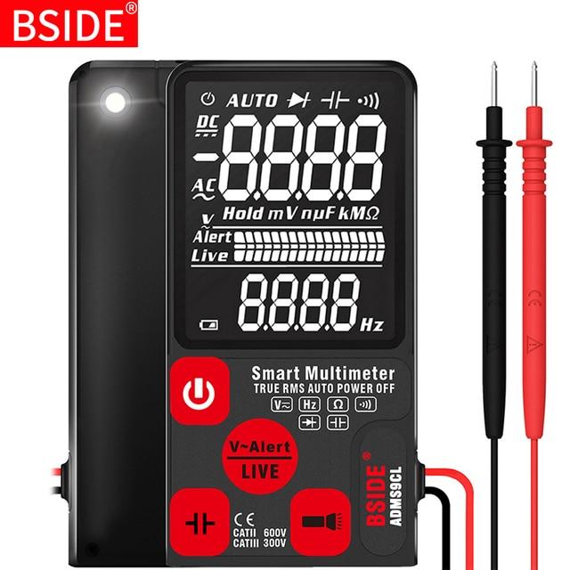 """BSIDE cyfrowy multimetr ultra przenośny 3.5 """"wyświetlacz LCD DC AC woltomierz analogowy Tester DIY miernik pojemności NCV Ohm Hz tester"""