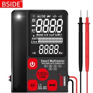 "Ultra-Portable Digital Multimeter BSIDE ADMS7 S9CL Large 3.5"" LCD 3-Line Display Voltmeter DMM AC DC Voltage NCV Ohm Hz Tester(China)"