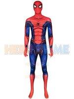 IW Spiderman Suit Concept Avengers Infinity War Spider man Cosplay Costume 3D Spandex Halloween Zentai Suit For Adult/Kids