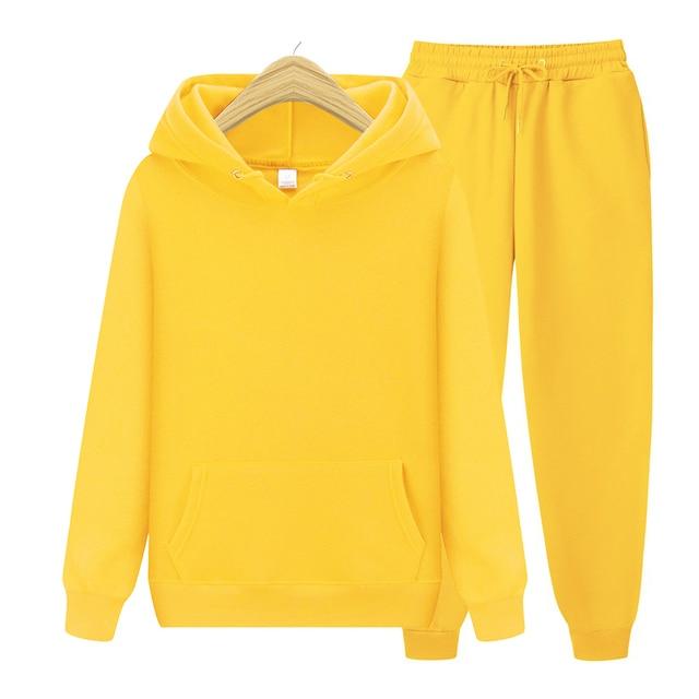 Men's Sets Hoodies+Pants Autumn Winter Hooded Sweatshirt Sweatpants Fashion Slim Fit Men Set Hoodie Pant Hip Hop Pullover Hoody 6