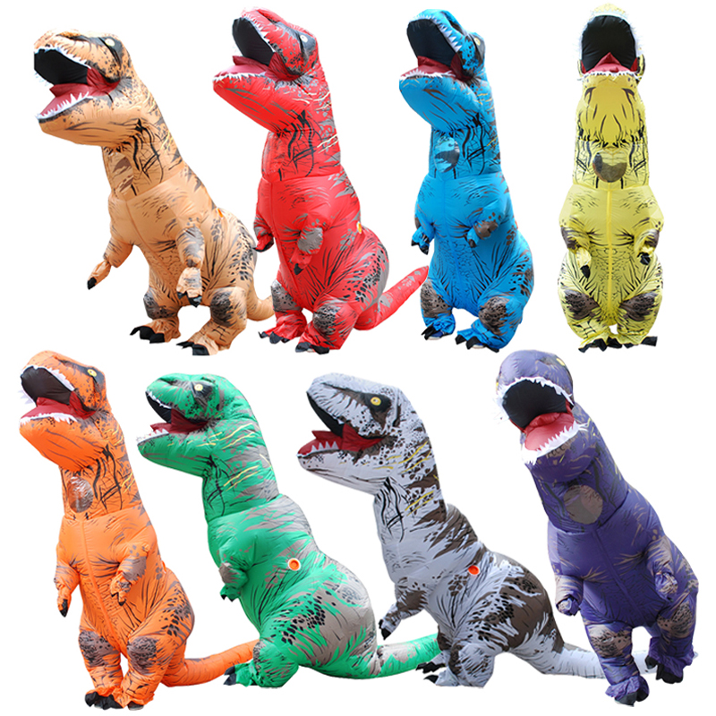 RIDE ON JURASSIC PARK T-REX DINOSAUR FAKE LEGS kids childs fancy dress costume