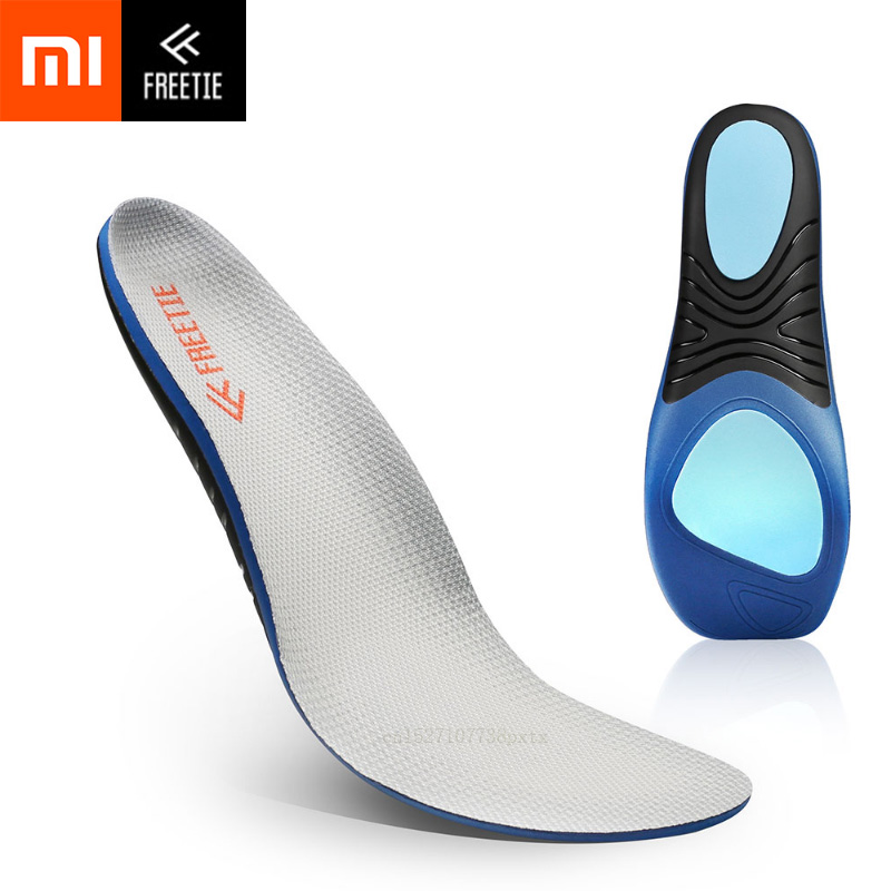 Xiaomi FREETIE EVA Shock Absorption Sports Insole Comfortable High Elastic Insoles For Leather Shoes Sports Running Casual Shoes