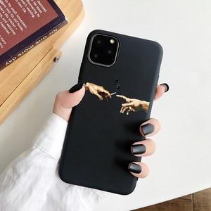 Мягкий ТПУ чехол для телефона Mona Lisa Art David lines Lovers с узором, чехол для iPhone 11 Pro 7 7Plus 6S 5 8 8Plus X XS Max