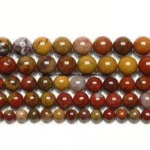 Zhanguo-Cuentas redondas sueltas de ágata ónix, piedra Natural China, tamaño a elegir, 6, 8, 10, 12MM
