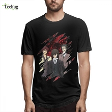 3D Print Male Bungou Stray Dogs Anime Tee 2018 New Unique Design 100% Cotton For Male Tees new unique design 100